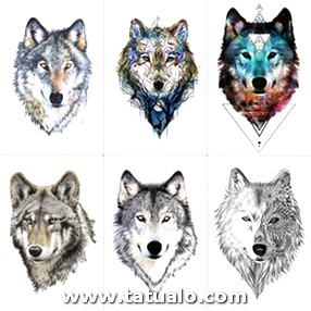 Tcool Wolf Temporary Tattoo Stickers Waterproof