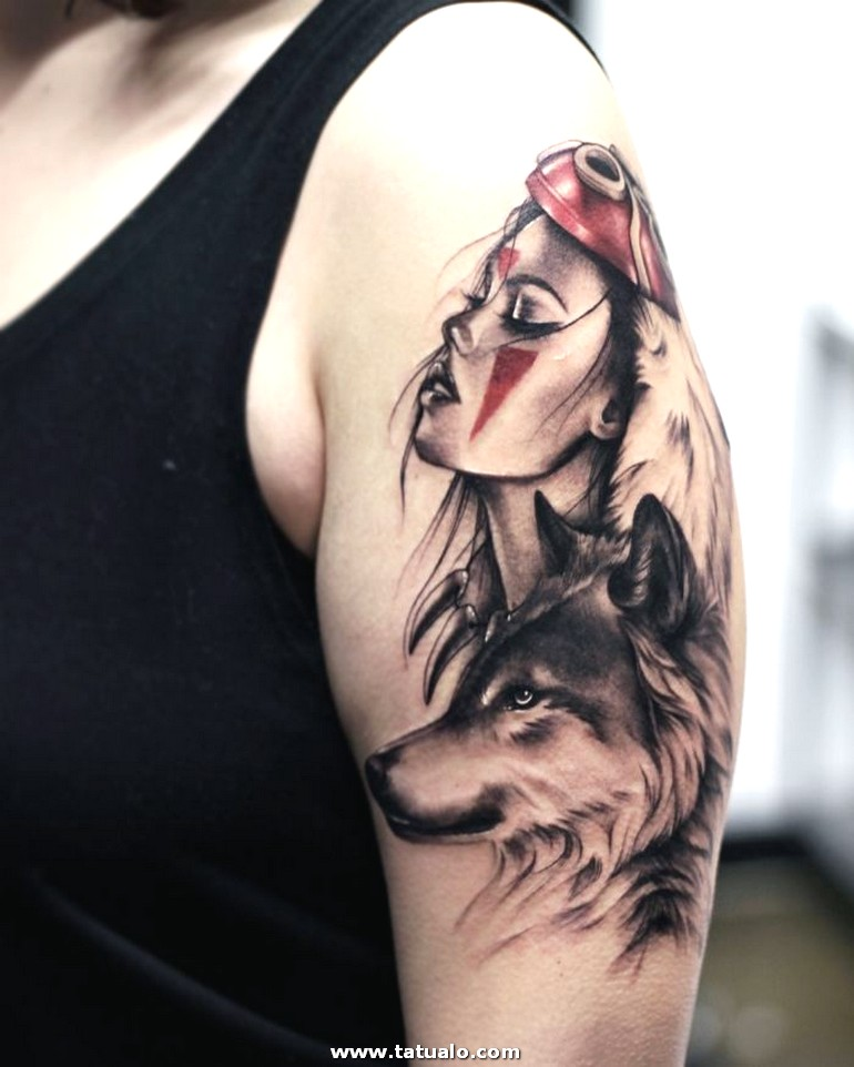 Wolf Tattoo Designs For Women 2 (1)