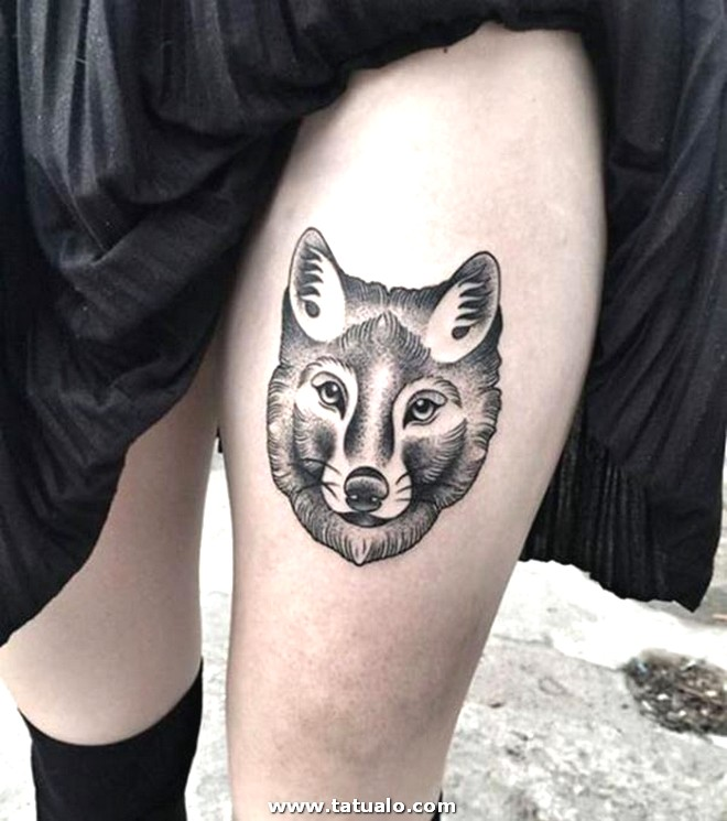 Wolf Tattoo For Women 10