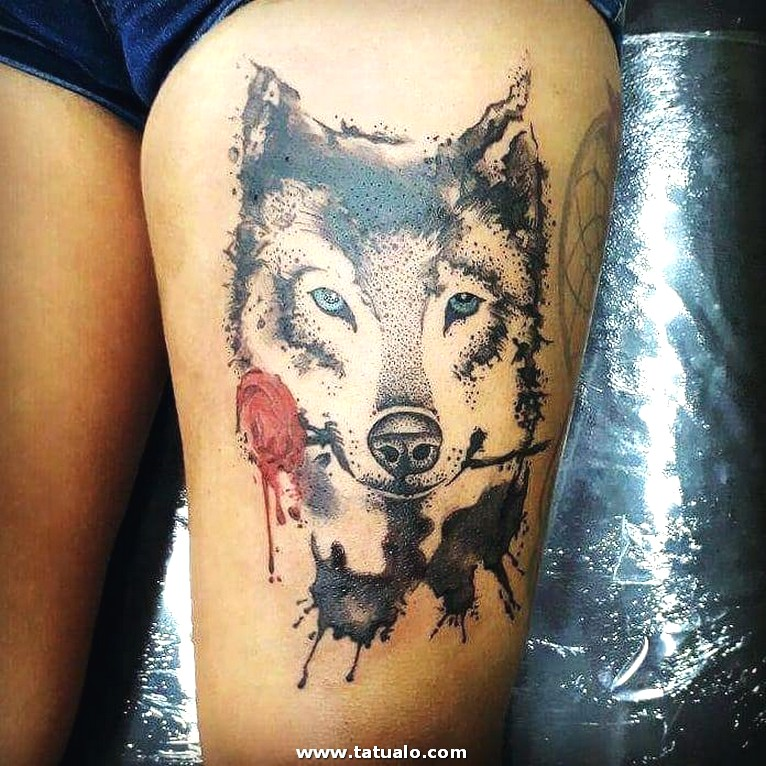 Wolf Tattoos 15